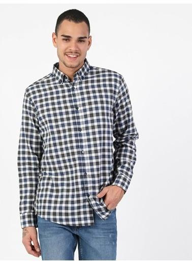 Colin's Colin'S Normal Kesim Shirt Neck Uzun Kol Ver Erkek Gömlek Lacivert